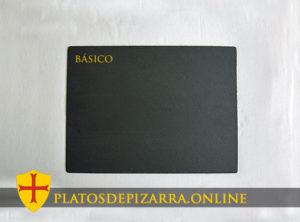 Platos de pizarra rectangulares para decoración. Plato pizarra rectangular. Diseño básico.