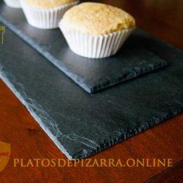 Bonitos platos de pizarra para decoración de pizarra natural. Pizarra del Bierzo (León). Platos pizarra alcampo.