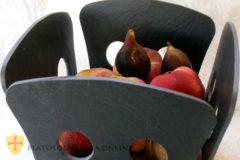 Frutero de pizarra natural para decoración de su mesa. Diseños personalizados en pizarra. Platos pizarra el corte inglés.
