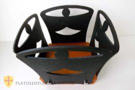 Frutero pizarra madera. Diseños personalizados en pizarra para decoración del hogar. Platos pizarra decoración.