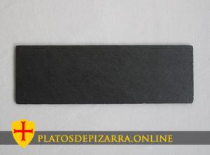 Plato básico rectangular para decoración. Plato de pizarra rectangular. Plato rectangular pizarra.