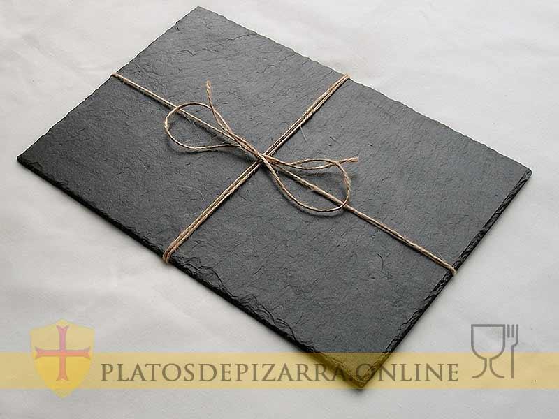 Plato de pizarra de decoración para regalo. Plato pizarra regalo.