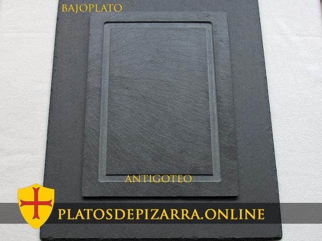 Platos decorativos de Pizarra Antigoteo