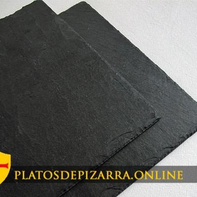 Platos de pizarra rectangular para decoración. Platos rectangular pizarra.Plato básico rectangular.