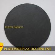Platos de pizarra redondos y decorativos. Plato básico.