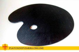 Preciosa bandeja de pizarra para tapas con forma de paleta de pintor para decoración de su hogar o bar. Varios modelos.