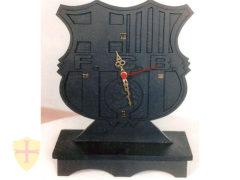 Reloj de pizarra escudo Futbol club Barcelona. Pizarra para regalos personalizados.